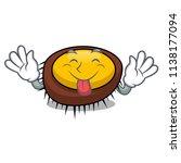 tongue out sea urchin mascot... | Shutterstock .eps vector #1138177094