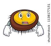 afraid sea urchin mascot cartoon | Shutterstock .eps vector #1138177151