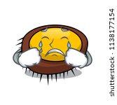 crying sea urchin mascot cartoon | Shutterstock .eps vector #1138177154