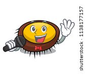 singing sea urchin mascot... | Shutterstock .eps vector #1138177157