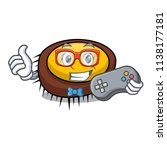 gamer sea urchin mascot cartoon | Shutterstock .eps vector #1138177181