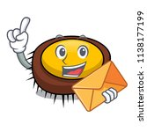 with envelope sea urchin... | Shutterstock .eps vector #1138177199