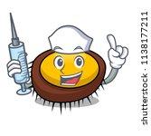 nurse sea urchin character... | Shutterstock .eps vector #1138177211