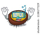 diving sea urchin character... | Shutterstock .eps vector #1138177229
