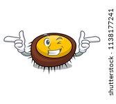 wink sea urchin character... | Shutterstock .eps vector #1138177241