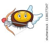 cupid sea urchin character... | Shutterstock .eps vector #1138177247