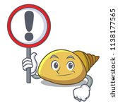 with sign mollusk shell... | Shutterstock .eps vector #1138177565