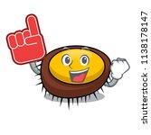foam finger sea urchin mascot... | Shutterstock .eps vector #1138178147