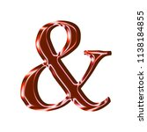 shiny red glass ampersand or... | Shutterstock . vector #1138184855
