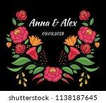 autumn wedding save the date... | Shutterstock .eps vector #1138187645