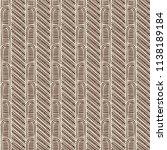 maori tribal pattern vector... | Shutterstock .eps vector #1138189184