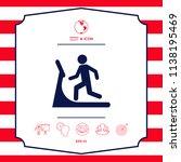 man on treadmill icon | Shutterstock .eps vector #1138195469