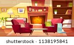 living room interior vector... | Shutterstock .eps vector #1138195841