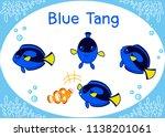 Cute Blue Tang Cartoon Set ...