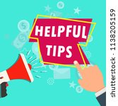 quick tips badge vector label.... | Shutterstock .eps vector #1138205159