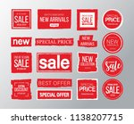 red sale banner. big collection.... | Shutterstock .eps vector #1138207715