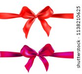 two red ribbons   Shutterstock .eps vector #1138210625