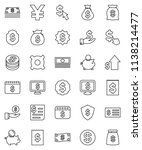 thin line vector icon set  ... | Shutterstock .eps vector #1138214477