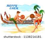 vector design of boat race... | Shutterstock .eps vector #1138216181