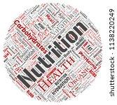 vector conceptual nutrition... | Shutterstock .eps vector #1138220249