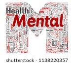 vector conceptual mental health ... | Shutterstock .eps vector #1138220357