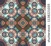 seamless pattern from mandalas... | Shutterstock .eps vector #1138221035