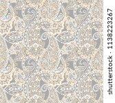 paisley vector seamless pattern.... | Shutterstock .eps vector #1138223267