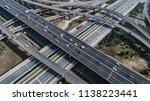aerial view of railway  highway ...   Shutterstock . vector #1138223441