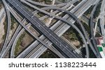 aerial view of railway  highway ... | Shutterstock . vector #1138223444