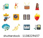 music concept icon set. trumpet ... | Shutterstock .eps vector #1138229657