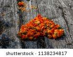 bouquet of calendula  calendula ... | Shutterstock . vector #1138234817