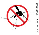 signaling  mosquitoes with... | Shutterstock .eps vector #1138235807