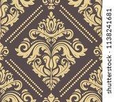 orient vector classic pattern....   Shutterstock .eps vector #1138241681