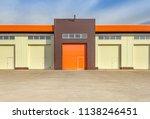 orange and white roller... | Shutterstock . vector #1138246451