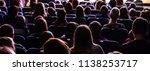 people in the auditorium... | Shutterstock . vector #1138253717
