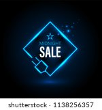 midnight sale banner with plug. ... | Shutterstock .eps vector #1138256357