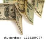 money dollars on a white... | Shutterstock . vector #1138259777