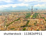 aerial view of tour eiffel and... | Shutterstock . vector #1138269911