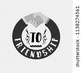 to friendship. banner  badge ... | Shutterstock . vector #1138274561