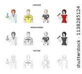woman chemist  football player  ... | Shutterstock .eps vector #1138285124