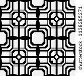 art deco pattern. seamless... | Shutterstock .eps vector #1138285271