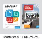 code brochure flyer design... | Shutterstock .eps vector #1138298291
