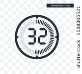 the 32 minutes vector icon... | Shutterstock .eps vector #1138305521