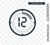 the 12 minutes vector icon... | Shutterstock .eps vector #1138305689