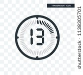 the 13 minutes vector icon... | Shutterstock .eps vector #1138305701