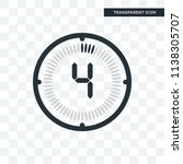 the 4 minutes vector icon... | Shutterstock .eps vector #1138305707