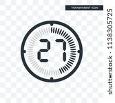 the 27 minutes vector icon... | Shutterstock .eps vector #1138305725