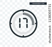 the 17 minutes vector icon... | Shutterstock .eps vector #1138305731
