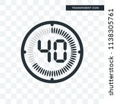 the 40 minutes vector icon... | Shutterstock .eps vector #1138305761