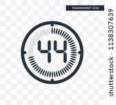 the 44 minutes vector icon... | Shutterstock .eps vector #1138307639